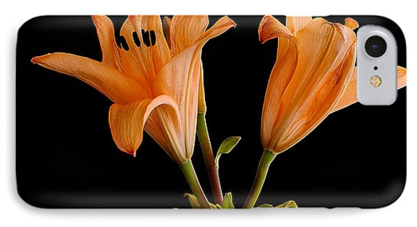 Lilium Flowers IPhone Case by Marwan Khoury
