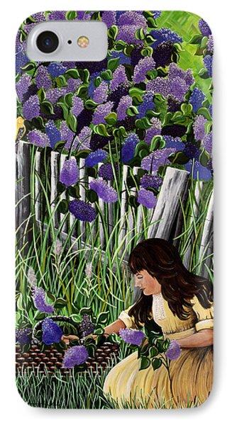 Lillian's Lilacs IPhone Case by Jennifer Lake