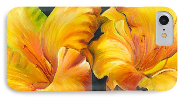 IPhone Case featuring the painting Lillies by Sheri  Chakamian