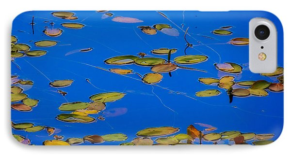 IPhone Case featuring the tapestry - textile Lilly Pads by Dennis Bucklin