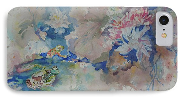IPhone Case featuring the painting Lilly Pond by Mary Haley-Rocks