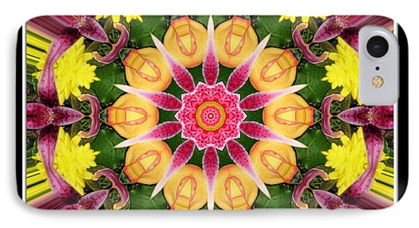 Lily And Chrysanthemums Flower Kaleidoscope IPhone Case by Rose Santuci-Sofranko