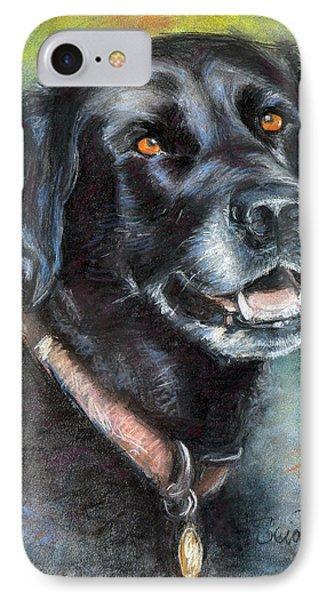 Lily- Black Labrador Retriever IPhone Case by Sciandra
