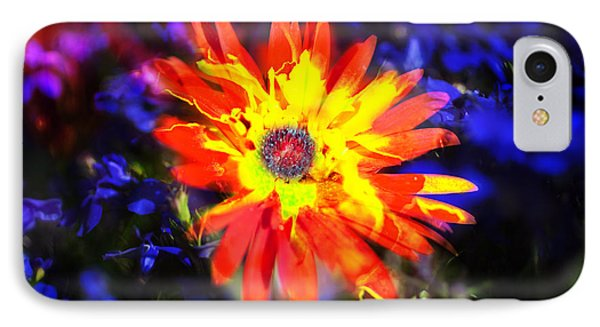 Lily In Vivd Colors IPhone Case by Gunter Nezhoda