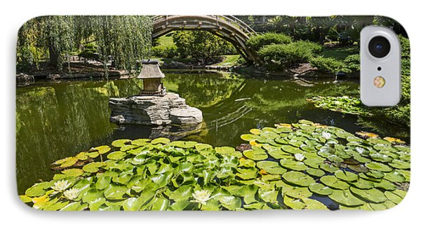 Lily Pad Garden - Japanese Garden At The Huntington Library. IPhone Case by Jamie Pham