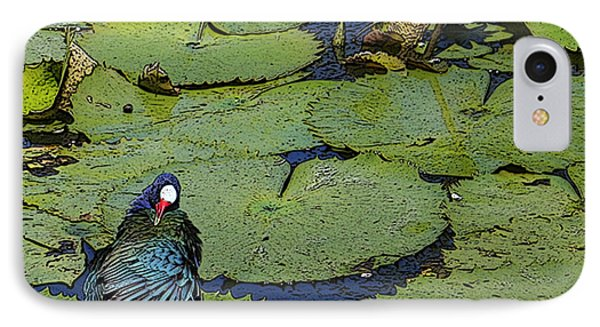 Lily Pad With Bird2 IPhone Case