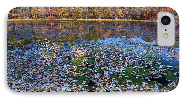 Lily Pads And Autumn Leaves IPhone Case