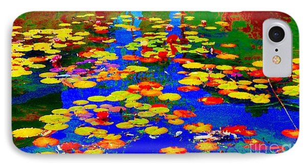 Lily Pads And Koi  Pond Waterlilies Summer Gardens Beautiful Blue Waters Quebec Art Carole Spandau  IPhone Case by Carole Spandau