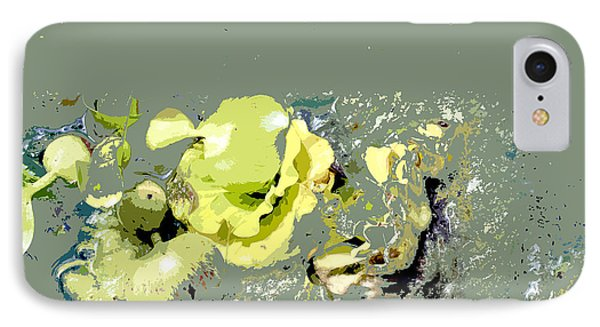 IPhone Case featuring the digital art Lily Pads - Deconstructed by Lauren Radke