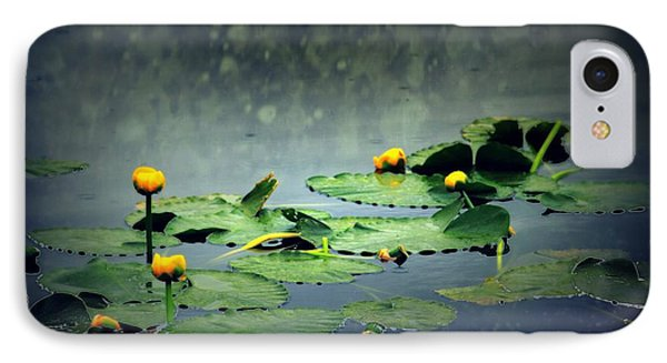 Lily Pads In The Rain At Vernonia Lake Phone Case by Dawna Morton