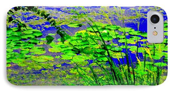 Lily Pads On The Lachine Canal Summer Landscape Scenes Colors Of Quebec Art Carole Spandau IPhone Case by Carole Spandau