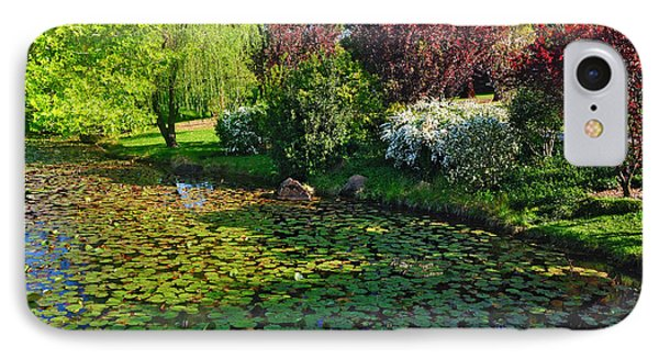 Lily Pond And Colorful Gardens Phone Case by Kaye Menner