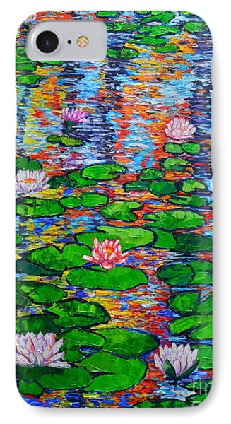 Lily Pond Colorful Reflections Phone Case by Ana Maria Edulescu