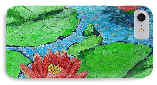 Lily Pond Impression Phone Case by Ana Maria Edulescu