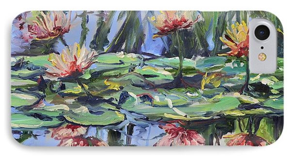Lily Pond Reflections Phone Case by Donna Tuten