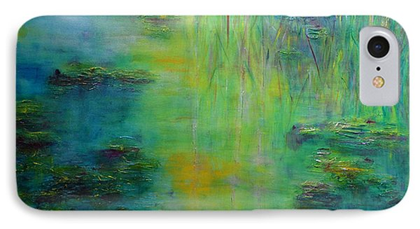 Lily Pond Tribute To Monet IPhone 7 Case by Claire Bull