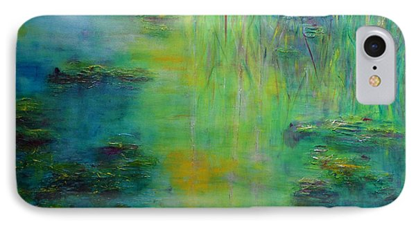 Lily Pond Tribute To Monet Phone Case by Claire Bull