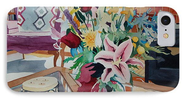 Lily Still Life IPhone Case by Terry Holliday