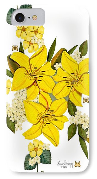 Lily Triplets Phone Case by Anne Norskog