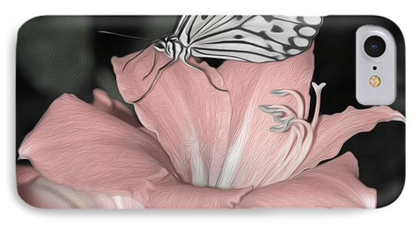 Lily With Butterly  IPhone Case