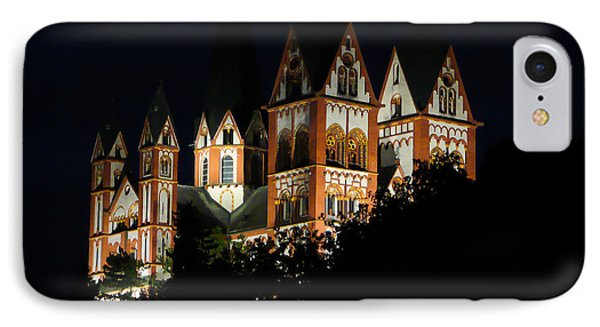 Limburg Cathedral At Night Phone Case by Jenny Setchell