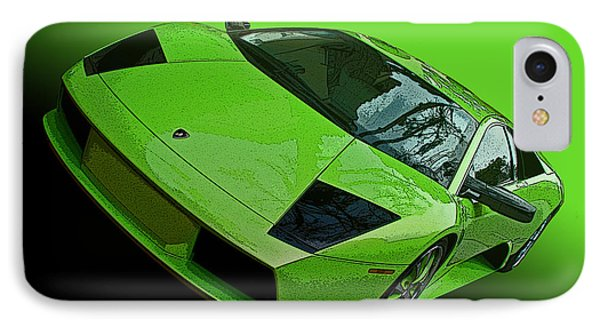 Lime Green Lamborghini Murcielago IPhone Case by Samuel Sheats