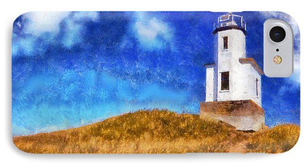 IPhone Case featuring the digital art Lime Kiln Lighthouse by Kaylee Mason