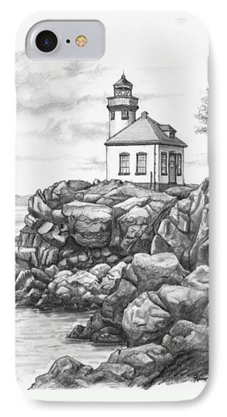 Lime Kiln Lighthouse Phone Case by Kim Lockman