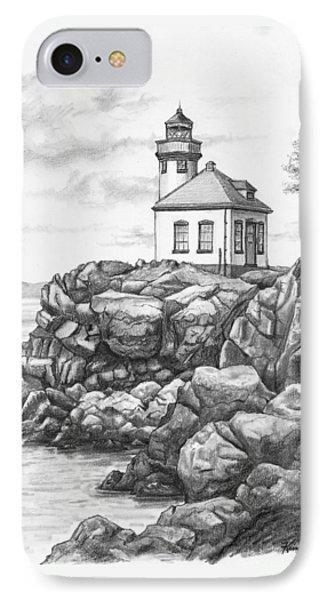 Lime Kiln Lighthouse IPhone Case by Kim Lockman