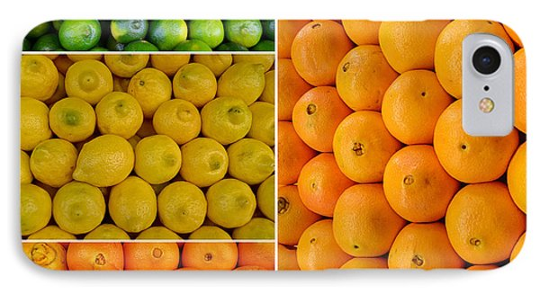 Limes Lemons Oranges Phone Case by Sabine Jacobs