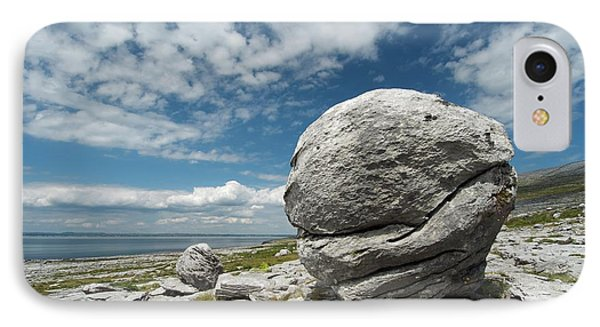 Limestone Boulder At The Burren IPhone Case by Sinclair Stammers
