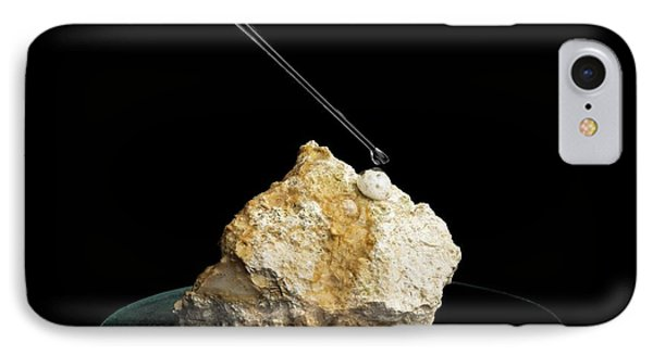 Limestone Reacting With Acid IPhone Case by Science Photo Library
