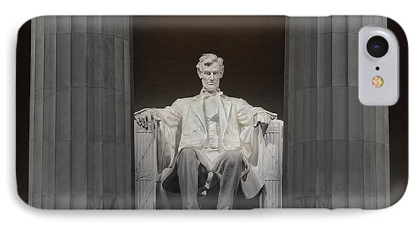 Lincoln And Columns IPhone Case by Jerry Fornarotto