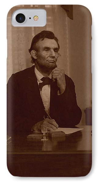 Lincoln At His Desk Phone Case by Ray Downing