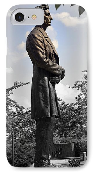 Lincoln At Lytle Park IPhone Case by Kathy Barney