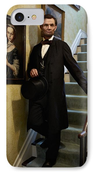 Lincoln Descending Stairs 2 Phone Case by Ray Downing