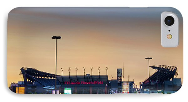 Lincoln Financial Field In A New Light IPhone Case by Bill Cannon
