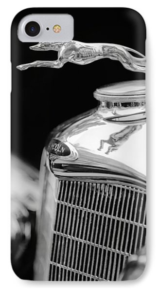 Lincoln Hood Ornament - Grille Emblem -1187bw IPhone Case