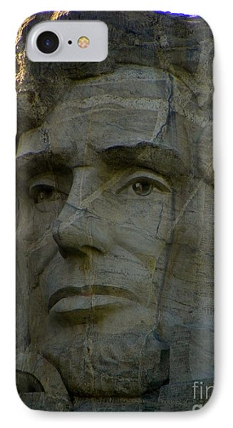 Lincoln In Color IPhone Case by KD Johnson
