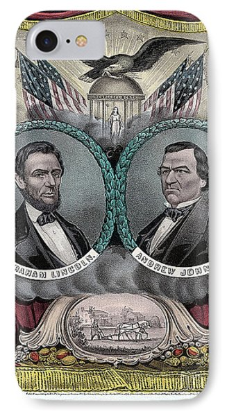 Lincoln Johnson Campaign Poster IPhone Case by Marvin Blaine