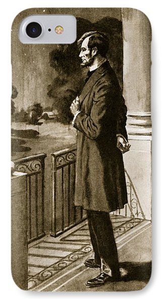 Lincoln Looks Out From The White House IPhone Case by American School