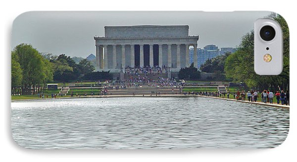IPhone Case featuring the photograph Lincoln Memorial 1 by Tom Doud