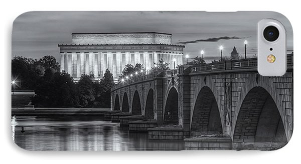 Lincoln Memorial And Arlington Memorial Bridge At Dawn II IPhone Case