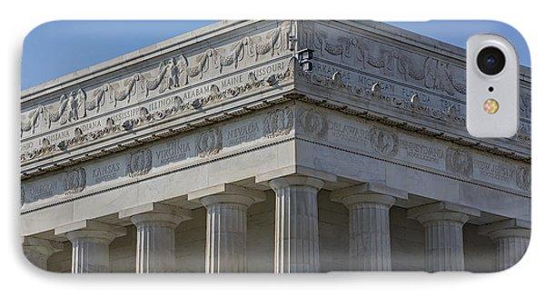 Lincoln Memorial Columns  Phone Case by Susan Candelario