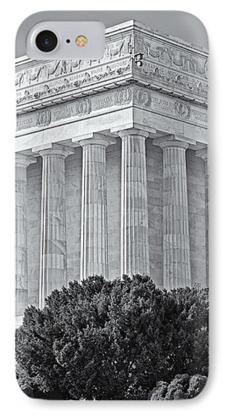 Lincoln Memorial Pillars Bw IPhone Case