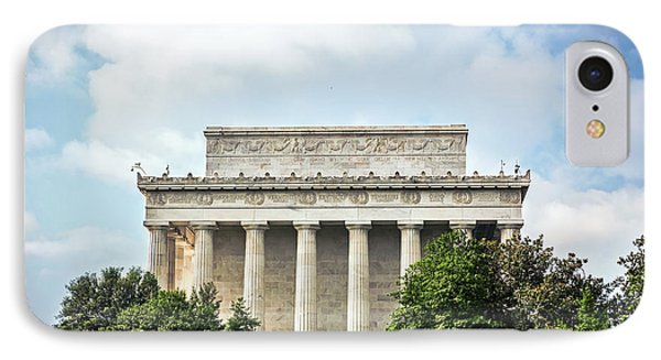 Lincoln Memorial Side View IPhone Case by Sennie Pierson
