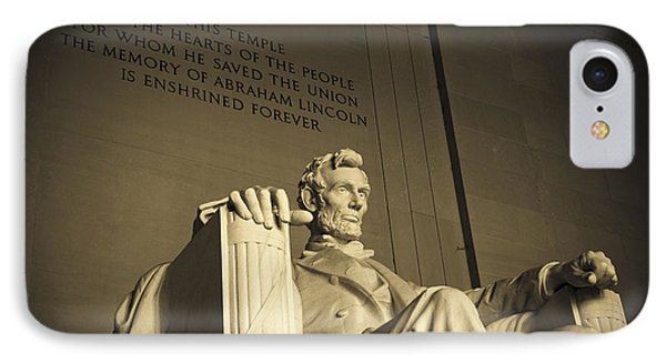 Lincoln Statue In The Lincoln Memorial IPhone 7 Case by Diane Diederich