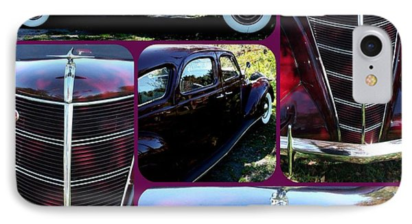 Lincoln Zephyr V-12 1937 4 Door Collage IPhone Case by Gail Matthews