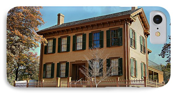 Lincoln's Home -- Springfield IPhone Case by Stephen Stookey