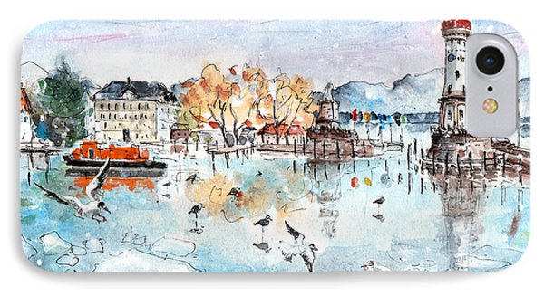 Lindau Harbour In Winter IPhone Case by Miki De Goodaboom